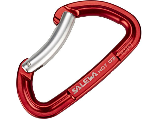 Salewa Hot G3 Carabiner Bent Red